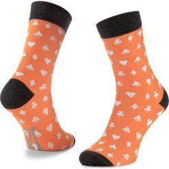 Skarpety Wysokie Męskie FREAK FEET - LKAR-ORG Pomarańczowy. Niebieskie skarpetki męskie marki Freak Feet, w kolorowe wzory, z bawełny. Za 19,99 zł.