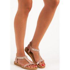Sandały damskie: Różowe sandały na gumkę QUEEN VIVI różowe