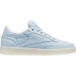 """Buty Reebok Club C 85 Canvas """"Zee Blue"""" (BD2841). Szare buty sportowe damskie marki Reebok, l, z dzianiny, z okrągłym kołnierzem. Za 113,99 zł."""