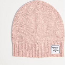 Czapka z wełną - Różowy. Niebieskie czapki zimowe damskie marki WED'ZE, z materiału. Za 29,99 zł.