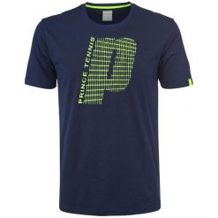 Koszulki sportowe męskie: PRINCE Koszulka męska Graphic Crew granatowa r. S
