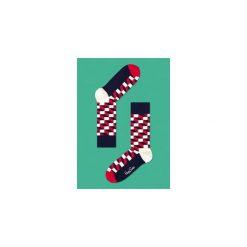"""Skarpety Happy Socks """"Filled Optic"""" (FO01-068). Czerwone skarpetki męskie Happy Socks, z bawełny. Za 29,99 zł."""