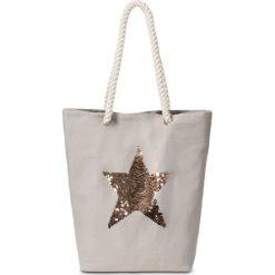 Torba shopper z motywem gwiazdy bonprix jasnoszary. Szare shopper bag damskie bonprix. Za 29,99 zł.