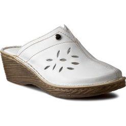 Chodaki damskie: Klapki WALDI - 0804  Biały