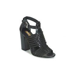 Sandały Lauren Ralph Lauren  HARIETTA SANDALS CASUAL. Czarne sandały damskie Lauren Ralph Lauren. Za 663,20 zł.