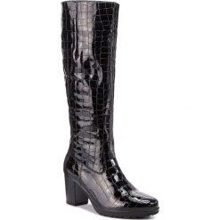 Kozaki GABOR - 75.548.97 Schwarz. Czarne buty zimowe damskie Gabor, z materiału, na obcasie. Za 759,00 zł.