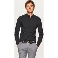 Koszule męskie na spinki: Koszula ze stójką super slim fit - Czarny