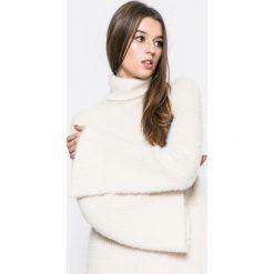Answear - Sweter. Szare swetry klasyczne damskie ANSWEAR, m, z bawełny, z golfem. W wyprzedaży za 79,90 zł.