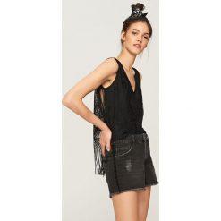Szorty damskie: Jeansowe szorty - Czarny