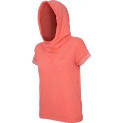 Bluza damska BLD001 - neon koral melanż - 4F. Różowe bluzy rozpinane damskie 4f, na lato, l, melanż, z bawełny, z krótkim rękawem, krótkie. Za 89,99 zł.
