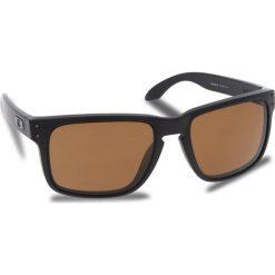 Okulary przeciwsłoneczne OAKLEY - Holbrook OO9102-D755 Matte Black/Prizm Tungsten Polarized. Czarne okulary przeciwsłoneczne męskie aviatory Oakley, z tworzywa sztucznego. W wyprzedaży za 649,00 zł.