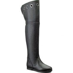 Muszkieterki LIU JO - Cuissarde Coriandol S66097 P0223 Nero 2222. Czarne buty zimowe damskie Liu Jo, z materiału, przed kolano, na wysokim obcasie, na obcasie. W wyprzedaży za 659,00 zł.