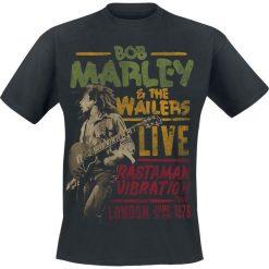 Bob Marley Rastaman Live T-Shirt czarny. Czarne t-shirty męskie marki Bob Marley, m, z nadrukiem, z okrągłym kołnierzem. Za 74,90 zł.