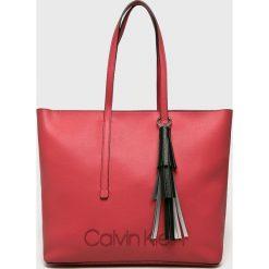Calvin Klein - Torebka Pop. Różowe shopper bag damskie Calvin Klein, z materiału, do ręki, duże. Za 629,90 zł.