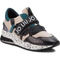 Sneakersy LIU JO - Karlie 03 B68001 PX001 Black/Nude/Peacock S19A1. Brązowe sneakersy damskie Liu Jo, z materiału. Za 779,00 zł.