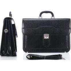 NIGEL Teczka męska Paolo Peruzzi Laptop. Czarne aktówki męskie marki Paolo Peruzzi, w paski, ze skóry. Za 169,00 zł.