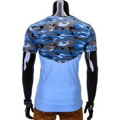 T-SHIRT MĘSKI Z NADRUKIEM MORO S756 - NIEBIESKI. Niebieskie t-shirty męskie z nadrukiem Ombre Clothing, m, z bawełny. Za 24,99 zł.