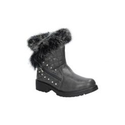 Buty zimowe damskie: Śniegowce Casu  Botki z futerkiem  TL0131