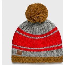 Quiksilver - Czapka. Szare czapki zimowe męskie Quiksilver, na zimę, z dzianiny. W wyprzedaży za 119,90 zł.