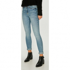 Noisy May - Jeansy. Niebieskie jeansy damskie rurki marki Noisy May, z bawełny. Za 219,90 zł.