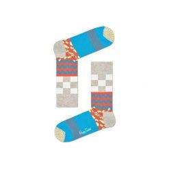 Skarpetki Happy Socks MIM01-1000. Brązowe skarpetki męskie marki Happy Socks, z bawełny. Za 24,43 zł.