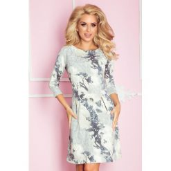 Sukienki: Marcella Sukienka z zamkami – ornamenty niebieskie