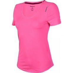 Reebok Koszulka treningowa damska Workout Ready Tee różowa r. M (AY2191). Szare topy sportowe damskie marki Reebok, l, z dzianiny, casualowe, z okrągłym kołnierzem. Za 94,25 zł.