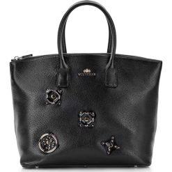 Torebka damska 87-4E-224-1. Czarne torebki klasyczne damskie Wittchen, w kwiaty. Za 465,00 zł.