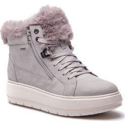Sneakersy GEOX - D Kaula B Abx D D84AWD 00032 C1010 Lt Grey. Szare sneakersy damskie Geox, z materiału. Za 629,00 zł.