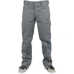 Dickies spodnie (873 Slim Straight Work) Chino ciemnoszary. Szare chinosy męskie Dickies, z aplikacjami, z materiału. Za 199,90 zł.