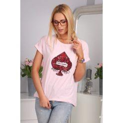 T-Shirt Bladoróżowy 2857. Szare t-shirty damskie Fasardi. Za 19,00 zł.