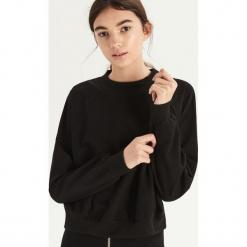 Bluza z transparentną wstawką - Czarny. Czarne bluzy damskie Sinsay, l. Za 49,99 zł.
