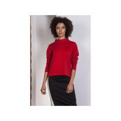 Bluza z dłuższym tyłem, BLU139. Czerwone bluzy damskie Lanti. Za 119,00 zł.