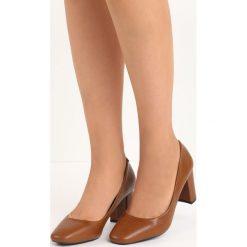 Camelowe Czółenka Countenance. Różowe buty ślubne damskie Born2be, na słupku. Za 69,99 zł.