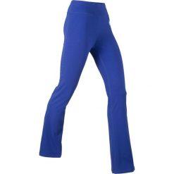 Legginsy sportowe, długie LEVEL1 bonprix szafirowy. Niebieskie legginsy sportowe damskie marki bonprix, z nadrukiem. Za 59,99 zł.