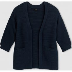 Długi sweter rozpinany. Szare kardigany damskie marki La Redoute Collections, m, z bawełny, z kapturem. Za 173,25 zł.