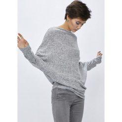 Medicine - Sweter Basic. Szare swetry oversize damskie MEDICINE, m, z dzianiny, z asymetrycznym kołnierzem. W wyprzedaży za 49,90 zł.