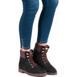 ZAMSZOWE WORKERY. Czarne botki damskie na zamek Ideal Shoes, z zamszu. Za 39,99 zł.