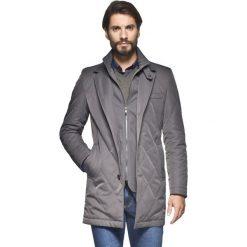 Płaszcz omero szary. Szare płaszcze na zamek męskie marki Recman, na zimę, m, eleganckie. Za 99,99 zł.
