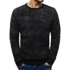 Bluzy męskie: Bluza męska z nadrukiem czarna (bx3413)