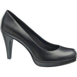 Szpilki damskie Graceland czarne. Czarne szpilki marki Graceland, w kolorowe wzory, z materiału. Za 79,90 zł.