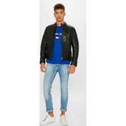 Lee - Jeansy Rider. Niebieskie jeansy męskie slim Lee, z bawełny. Za 349,90 zł.