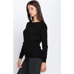 Swetry klasyczne damskie: Czarny Sweter In My Feelings