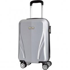 Walizka w kolorze srebrnym - 34 l. Szare walizki marki Platinium, z materiału. W wyprzedaży za 159,95 zł.