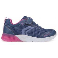 Geox Tenisówki Dziewczęce Sveth 28 Niebieski. Niebieskie buty sportowe dziewczęce Geox, na lato. W wyprzedaży za 169,00 zł.