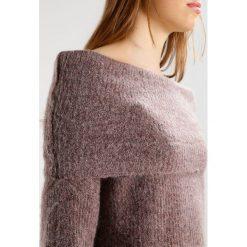 Swetry klasyczne damskie: Sparkz LARNA  Sweter greyrose melange