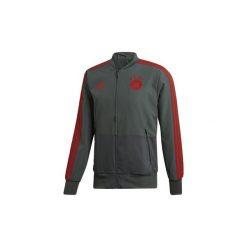 Bluzy dresowe adidas  Kurtka wyjściowa Bayern Monachium. Szare kurtki męskie Adidas, l, z dresówki, wizytowe. Za 329,00 zł.