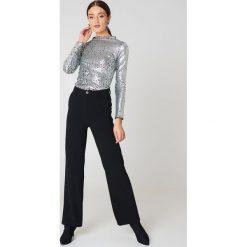 Spodnie z wysokim stanem: Rut&Circle Długie spodnie Ofelia – Black