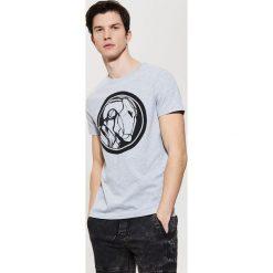 T-shirty męskie: T-shirt z grafiką – Jasny szar
