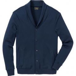 Bluza bejsbolówka dresowa ze strukturalnego materiału Regular Fit bonprix ciemnoniebieski. Brązowe bejsbolówki męskie marki SOLOGNAC, m, z elastanu. Za 149,99 zł.
